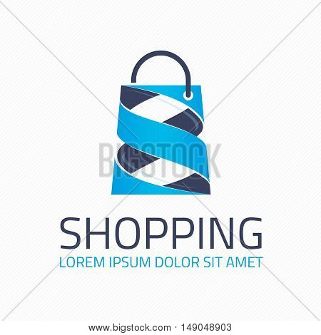 Logo for the shopping center. Shop logotype Template.