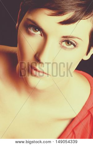 Portrait of beautiful woman close up