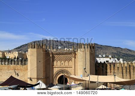 The Bab Chorfa in Fes Morocco, Africa