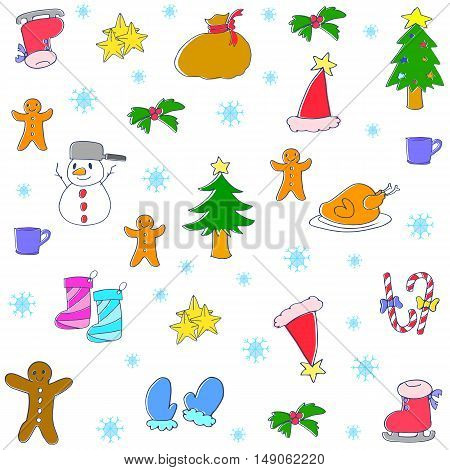Doodle of christmas collection stock vector art
