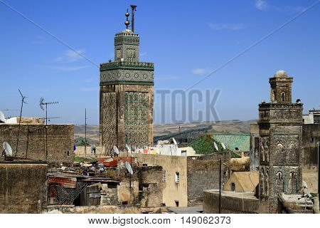 Madrasa Bou Inania in Fes Morocco, Africa