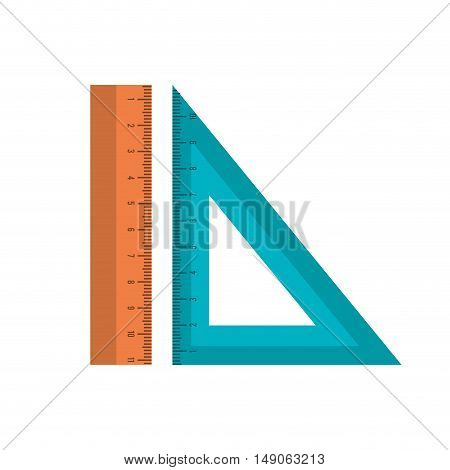 icons ruler and squad school isolated design vector illustration