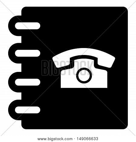 phone book icon business  vector symbol address list contact
