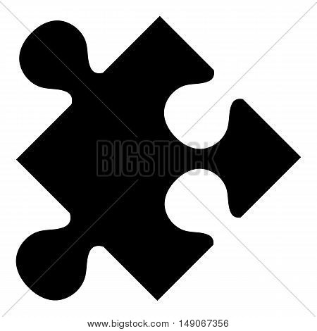 Puzzle piece flat icon plugin website isolated outline stamp