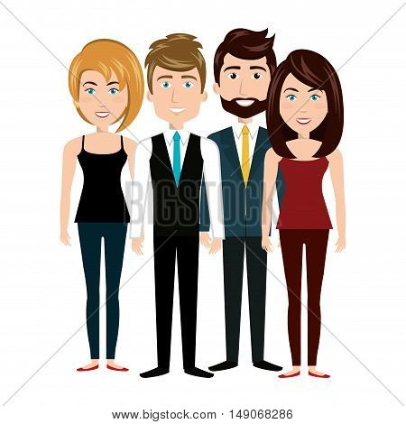 team group human resources, teamwork design vector illustration