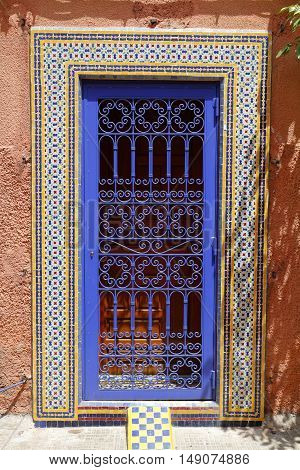 Door in Medina of Marrakesh Morocco, Africa