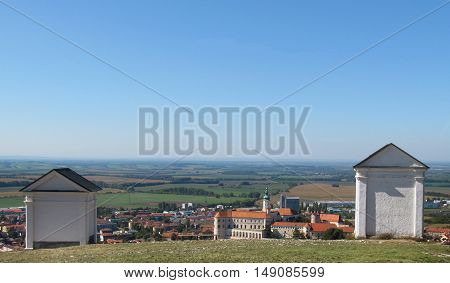 Holy Hill-The Way of the Cross in Mikulov, South Moravia, Czech Republic