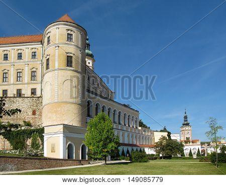 Medieval Aristocratic Castle in Mikulov with the Garden, Czech Republic, South Moravia