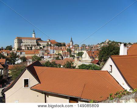 Mikulov Castle and Town in South Moravia Czech Republic