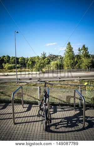 Parking For Bicycles In Sant Cugat Del Valles Barcelona