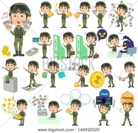 Military Wear Man Money