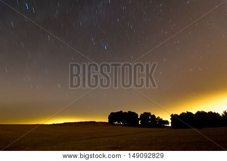 Star Trails And Meteors Over The Israel Negev Desert