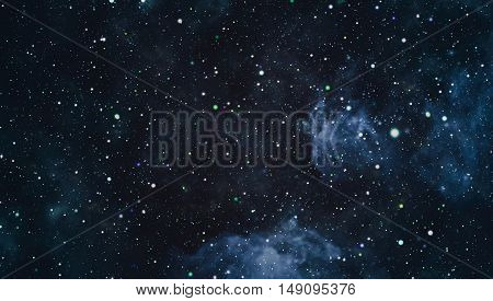 dark night sky with many stars. Milky way on the space background