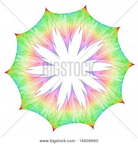 Colorful Mandala Flower