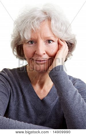 Portrait Of Smiling Elderly Woman