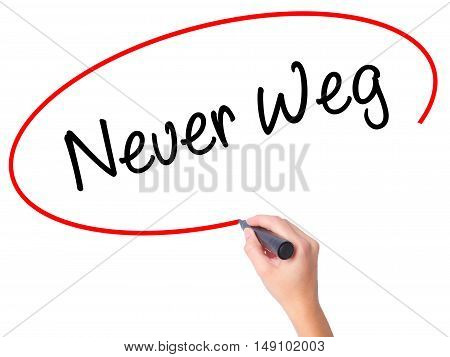 Women Hand Writing Neuer Weg  (new Way In German) With Black Marker On Visual Screen