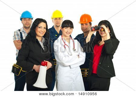 Different Workers People