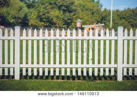 Wooden Fence In White Color