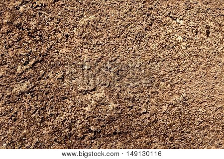 Brown Revetment Wall Putty Macro Texture Background