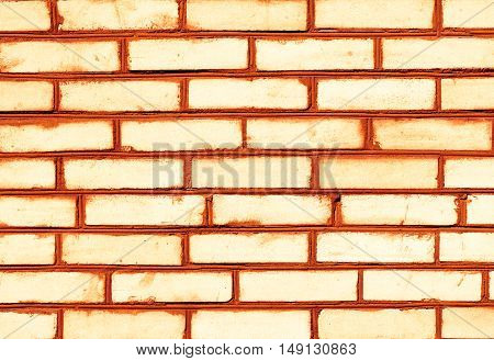 Orange Brickwork Detailed Texture Background - Stock Photo