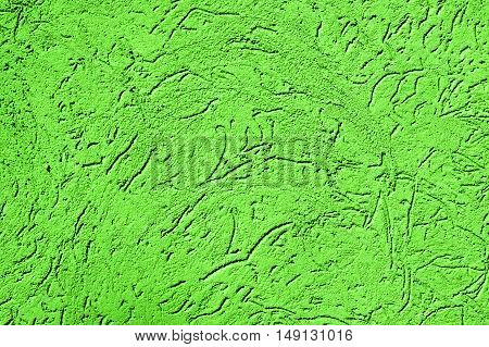 Texture Of Old Vintage Green Plaster Wall