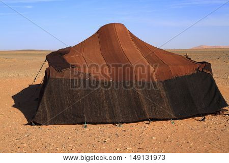 Nomadic tent in Erg Chebbi Morocco, Africa