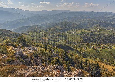 Scenic Aerial Romanian Panorama