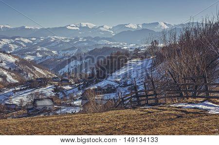 Winter Romanian Rural Scenery