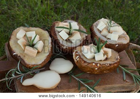 Porcini And Scamorza