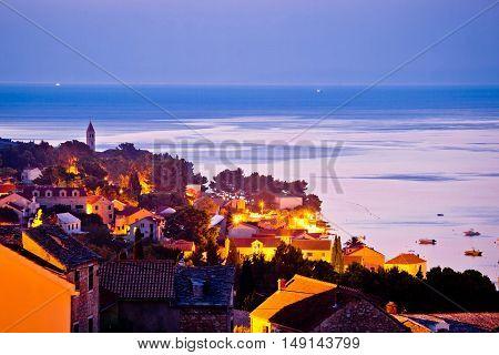 Town of Bol sunrise waterfront view Island of Brac Croatia