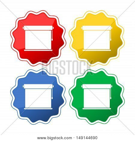 Louvers rolls sign icon, Blinds icon set on white background