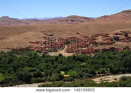 A Village in Dades Valley Morocco, Africa