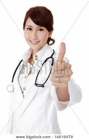 Smiling Japaneses Doctor