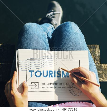 Holiday Travel Voyage Wanderlust Vacation Concept poster