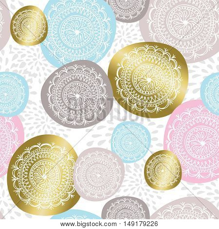Christmas Ornament Background In Gold Color