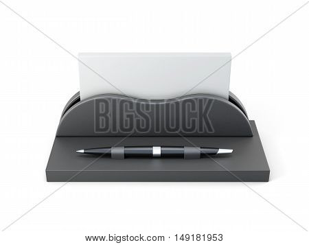 Office Stationery Isolated On A White Background. 3D Rendering