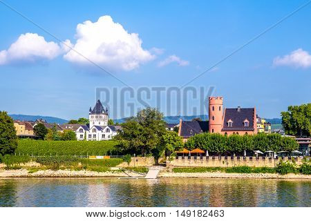 Eltville am Rhein little town famous for wineyard located along the Rhine River in Germany.