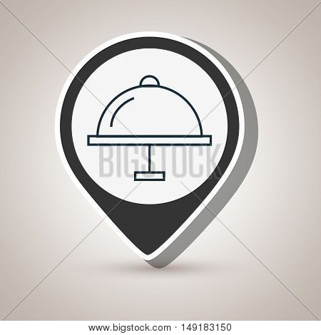 tray waiter steel dome vector illustration eps 10