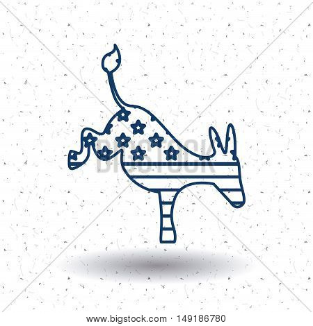 Donkey icon. Vote election nation and government theme. Silhouette and isolated design. Vector illustration
