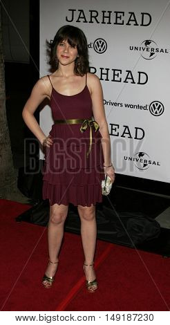 Rini Bell at the World premiere of 'Jarhead' held at the Arclight Cinemas in Hollywood, USA on October 27, 2005.