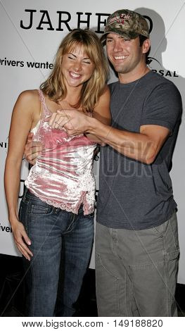 Lucas Black and fiance Maggie at the World premiere of 'Jarhead' held at the Arclight Cinemas in Hollywood, USA on October 27, 2005.