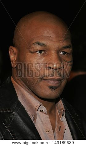 Mike Tyson at the Los Angeles premiere of 'Get Rich or Die Tryin' held at the Grauman's Chinese Theatre in Hollywood, USA on November 3, 2005.