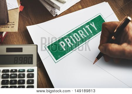 Priority Importance Tasks Urgency Effectivity Focus Concept