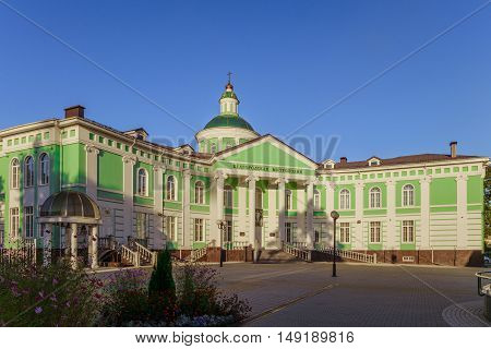 BELGOROD RUSSIA - September 10 2016: The building of the Belgorod Orthodox metropolia.