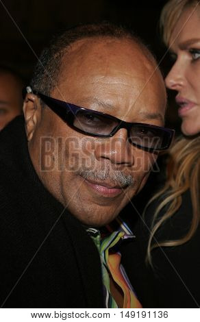 Quincy Jones at the Los Angeles premiere of 'Get Rich or Die Tryin' held at the Grauman's Chinese Theatre in Hollywood, USA on November 3, 2005.