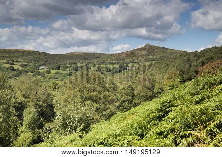 An image of the beautiful Dartmoor hills shot from Venford Brook towards Sharp Tor.