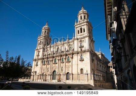 Facade Of Cathedral In Jaen City