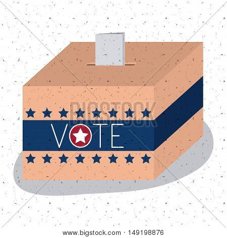 Box icon. Vote election nation and government theme. Colorful design. Vector illustration