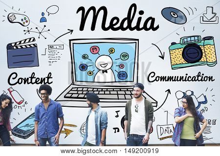 Media Multimedia Social Media Online Concept