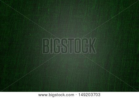 A vintage cloth book cover with a green screen pattern and grunge background textures